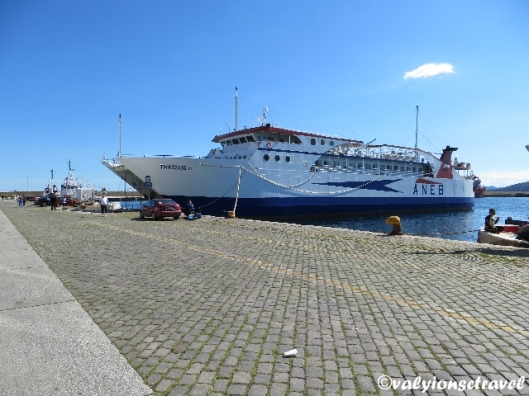 Portul din Kavala de unde se ia feribotul
