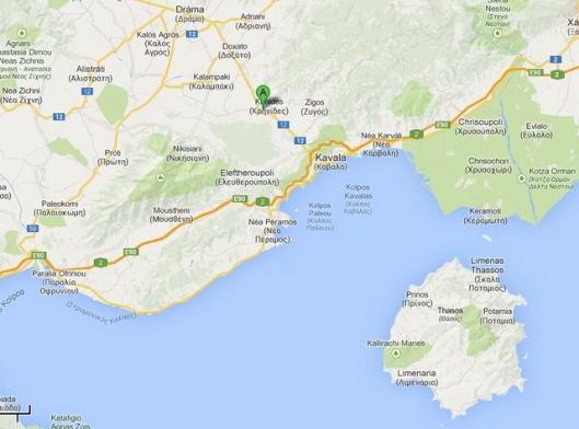 Philippoi Map