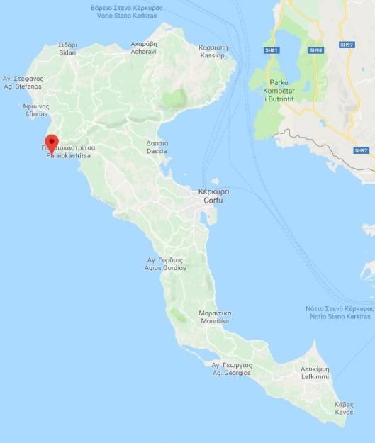 Palaeokastritsa Map 1